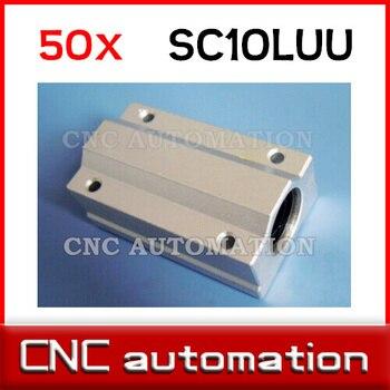 50 Uds SCS10LUU SC10LUU casquillo de guía lineal, rodamiento de bolas lineal para 10mm piezas de eje cnc