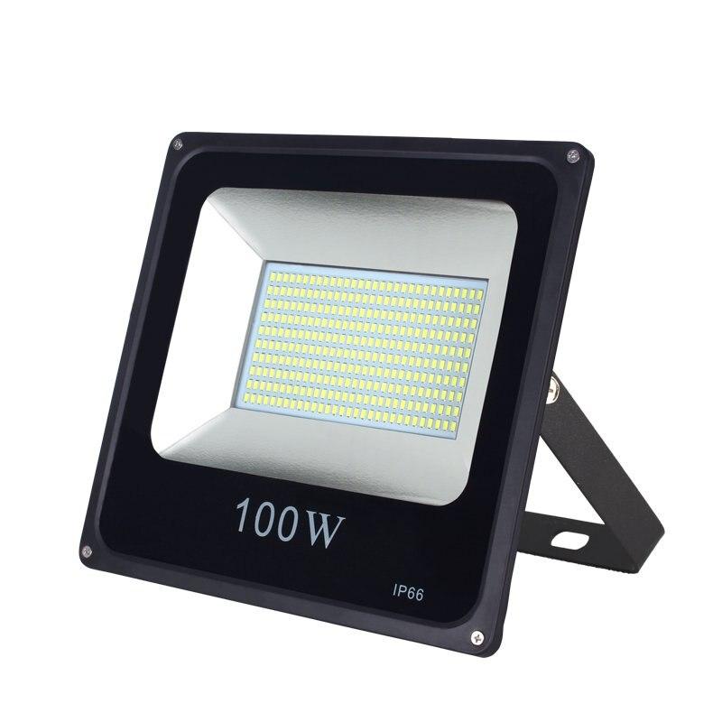 IP65 extérieur LED étanche lumière d'inondation haute luminosité jardin extérieur aire de jeux atelier lumières 50 W 100 W 200 W 220 V