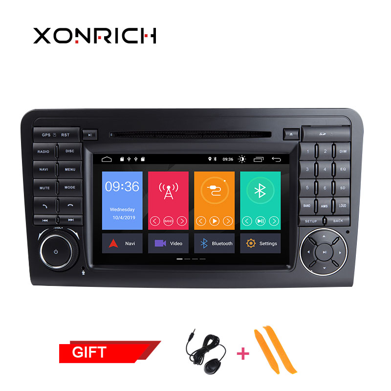 Autoradio lecteur DVD multimédia Double Din GSP Navi pour Mercedes/Benz/GL ML W164 ML350 4 GB RAM Android Radio DAB Wifi OBD