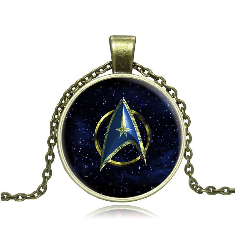 2016 Fashion New Steampunk from india Movie Statement Chain Necklace Star Trek Glass Pendant & Necklace For Men Jewelry
