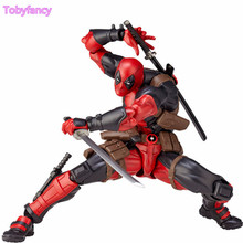 ФОТО Deadpool Action Figure Revoltech 160mm Series No001 Anime Deadpool Collectible Model Doll Toy