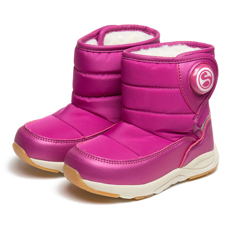 FLAMINGO Winter  Wool Warm Waterproof High Quality Kids Shoes Anti-slip Orthotic Arch size 22-27 Snow Boots for Girl 82D-NQ-1028 npk 22 high quality silicone adorable lifelike bonecas baby reborn realistic magnetic pacifier bebe bjd doll reborn for girl gi