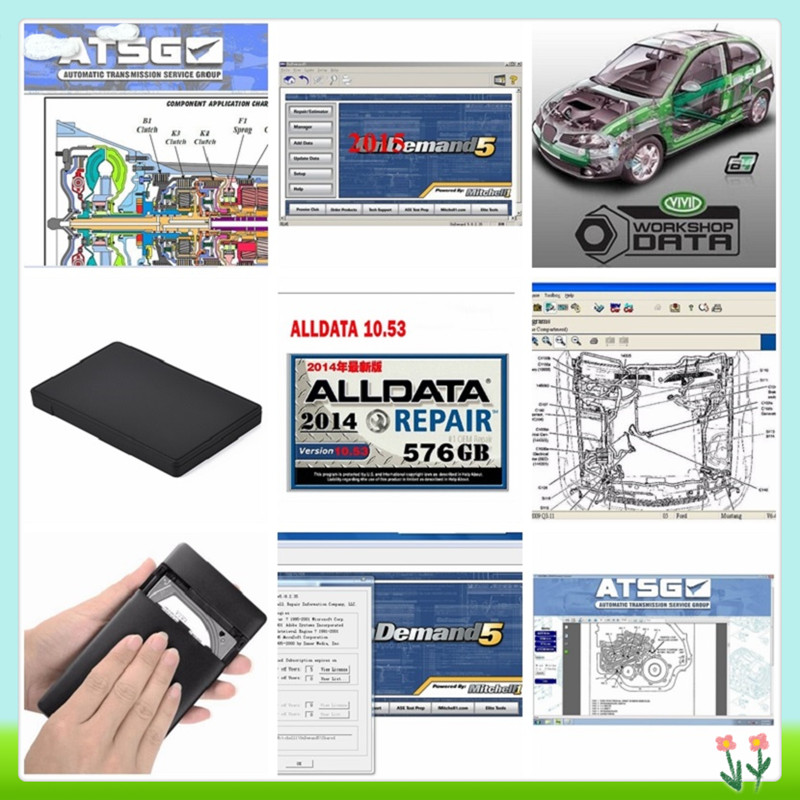 2016 Auto Data Software Alldata V10.53 With Mitchell On Demand 2015 New Software 49 In 1tb Hdd Auto Repair Software Best Price Dhl Free High Quality Materials