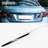 FOR TOYOTA COROLLA E140/E150 2007 2013 REAR DOOR TRUNK BOOT LIDS TAIL GATE MOULDING COVER STICKERS