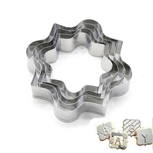 4pcs/set Stainless Steel Cake Cookie Cutter Kitchen Mould Blessing Frame Wedding Cutters Biscuit Baking Pastry Tools