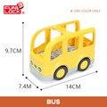 Bus Duplo Bloques de Vehículo de Transporte de Coches Regalo de Juguetes Educativos Para Los Niños Del Cabrito