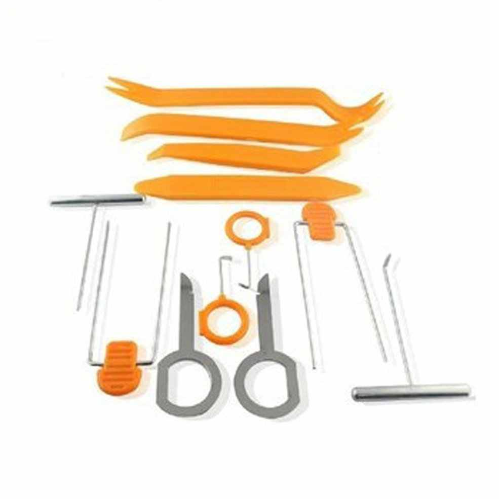 Car Radio Stereo Dash Removal Install Tools Auto Door Clip Panel Trim Removal Tool Kits Plastic Seesaw Conversion Tool 12 pcs