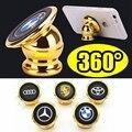 Suporte Do Telefone Do Carro Universal Magnetic 360 Graus de Rotação Do telefone Móvel Do Carro Stander Com 24 K Chapeamento de Ouro Magnético Forte Para telefone