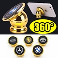 Universal Magnetic Car Phone Holder 360 Degree Rotating Mobile Car phone Stander With 24K Gold Plating Strong Magnetic For Phone