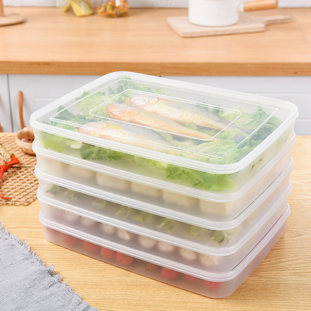 Vegetables Storage Containers Reusable kitchen refrigerator plastic food storage boxes containers reusable kitchen refrigerator plastic food storage boxes containers vegetables fruit organizer box with lids kitchen accessories in bottlesjars boxes workwithnaturefo
