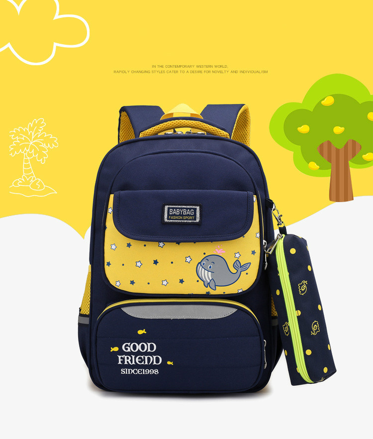 Children School Bags Teenagers Boys Orthopedic Backpacks Child Schoolbags Kids Satchel Knapsac Blue