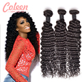 Deep Wave Brazilian Hair 3 Bundles Brazilian Deep Wave Virgin Hair Wet and Wavy Virgin Deep Curly Brazilian Hair Weave Bundles