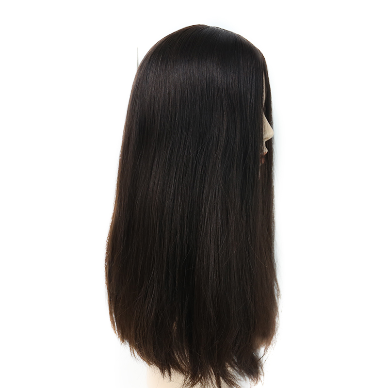 Jewish Wig Silk Base Human Hair Wigs For Women 150% Density Jewish Hair Color #4 You May Remy Hair Double Drawn Full Ends