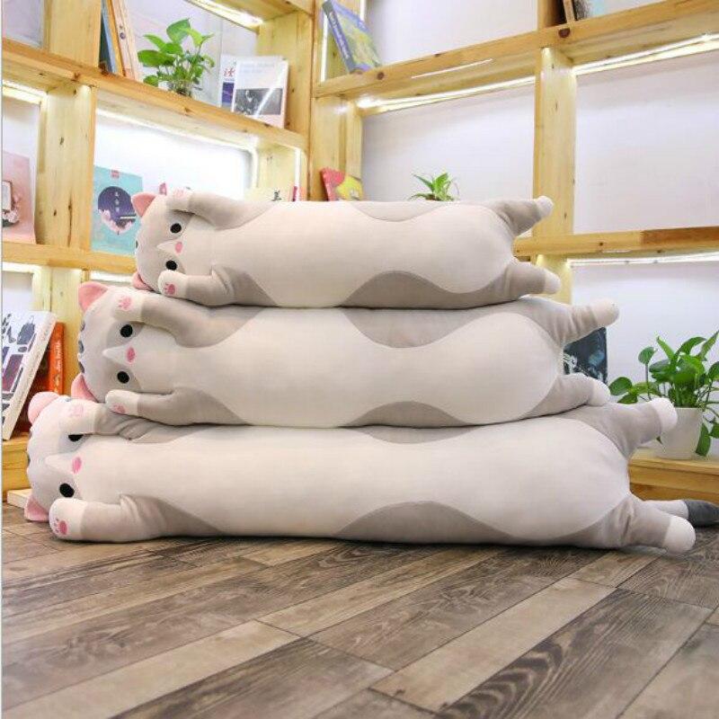 110CM Plush pig plush cat Doll Long Pillow Cushion Stuffed Bolster Gift flower plush stuffed pillow creative gift lovely cushion
