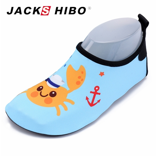 7c796302e06171 JACKSHIBO Kids Water Shoes C Pool Beach Children Shoes Cute Flats Water  Footwear Infant Swimming Shoe Slippers