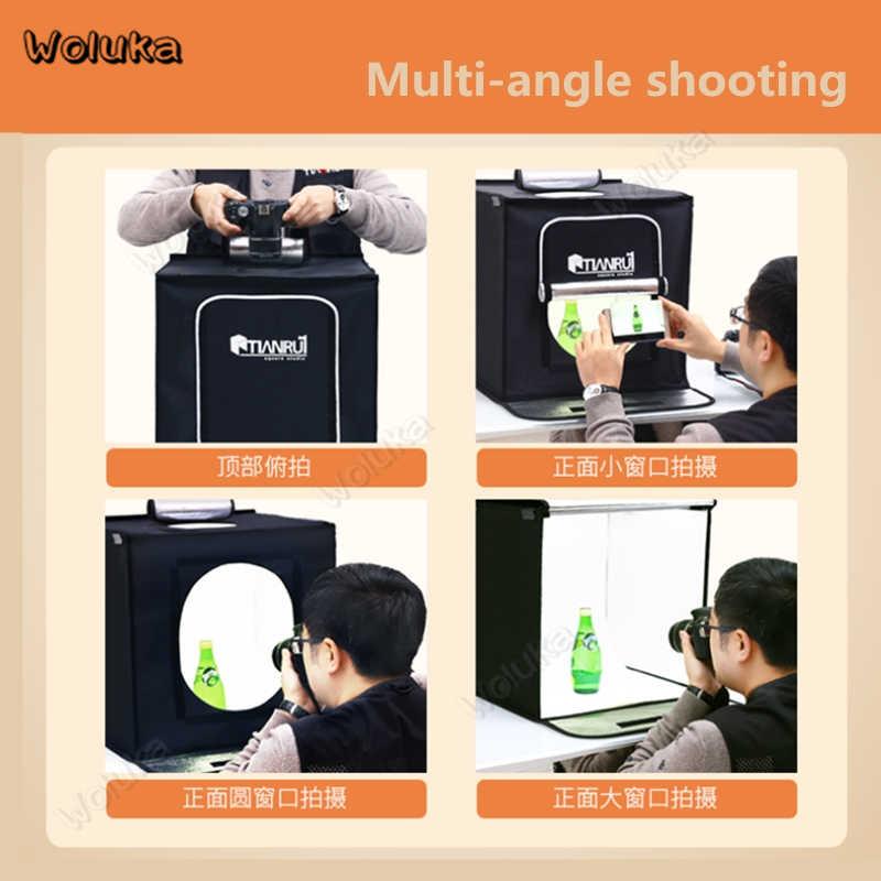 Dobrável 60 CM Quick-aberto Caixa Da Foto + 2 Extra Tira Luzes Led Mini Adereços Estúdio Lightbox LED para fotografia CD50 T10