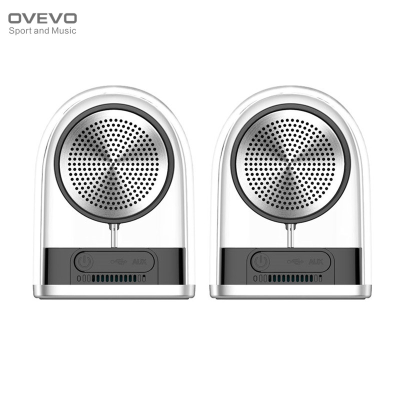 OVEVO D12 TWS Magnetic Transparent Bluetooth Speaker V4.2 Outdoor Speaker Wireless Portable Stereo IPX5 Waterproof Subwoofer wireless bluetooth 4 0 speaker portable magnetic levitation floating 3d stereo usb charge subwoofer speaker with led light