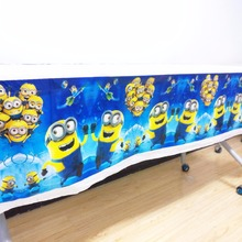 108*180cm minions party supplies tablecloth favor kids birthday festival decoration table clothes