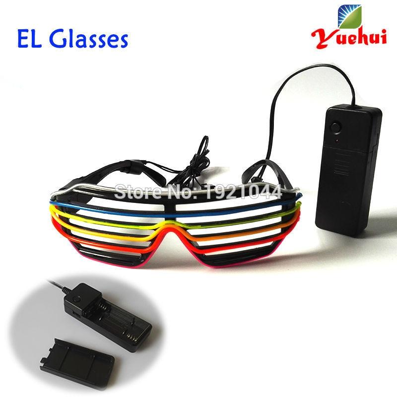 Novi očala Šest barvnih večbarvnih zvočno aktiviranih EL žic - Prazniki in zabave - Fotografija 2