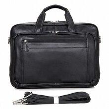 ForUForM Genuine Leather Men's Briefcase Business Briefcase 17″laptop Bag Shoulder Bag Men's Messenger Bag Tote Handbag LI-1579