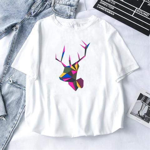 2019 Fashion Cool Print Female T-shirt White Cotton Women Tshirts Summer Casual Harajuku T Shirt Femme Top Islamabad