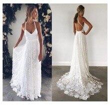 Lorie vestido de casamento com renda, vestido de casamento com renda, elegante, costas nuas, com renda marfim, branco, de chiffon 2019 vestido de noiva