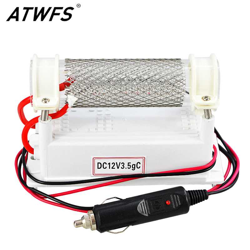 ATWFS DC12v 3.5g Car Ozone Generator Air Purifier Ozonizer Car Ozonator Air Cleaner Sterilization Odor Removal