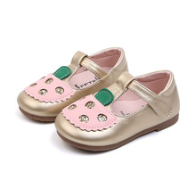 COZULMA Girls Shoes Baby Kids Pu Leather Rhinestone Soft Bottom Mary Jane Children Dress for