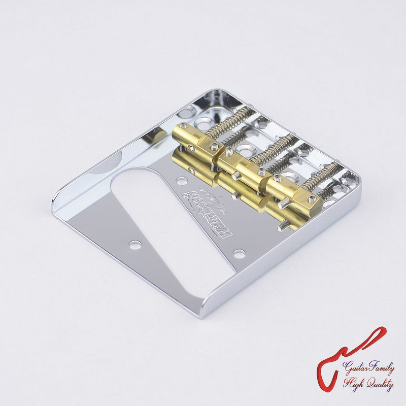 цена 1 Set Original Genuine Wilkinson WTB Vintage Type Fixed Electric Guitar Bridge With Brass Saddles  Chrome  MADE IN KOREA онлайн в 2017 году