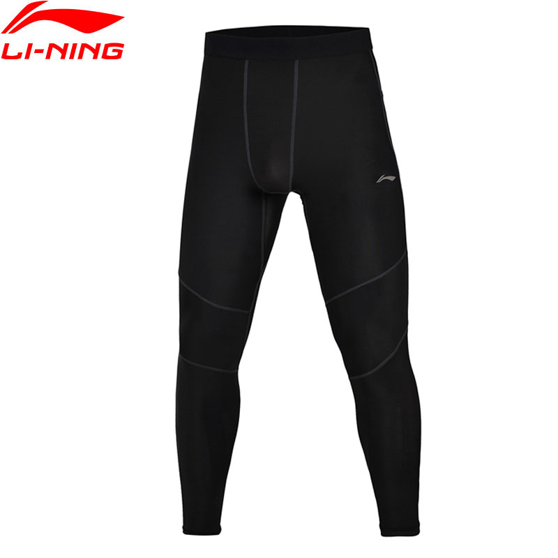 цена на Li-Ning Men's Compression Tights Professional Base Layer Pants 76% Nylon 24% Spandex LiNing Sports Tights AULM043 MKY301