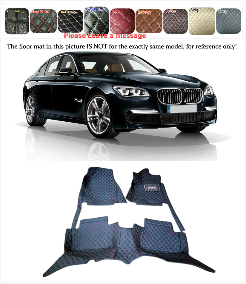 5 Seats 1 Set Customs Car Floor mat Leather Waterproof Front & Rear Floor Mats Carpets Pads for BMW 7 Series F01 2009 2010 2012 customs 5 seats 1 set car floor mat leather waterproof front
