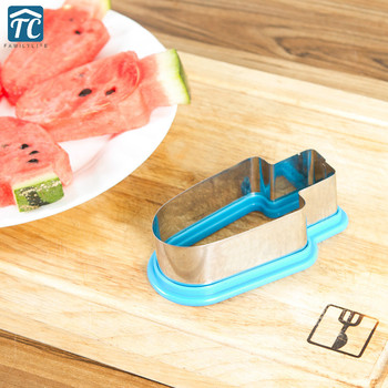 1pc Kitchen Accessories Creative Watermelon Slicer Ice Cream Mold Stainless Steel Popsicle Simple Form Vegetable Cutting Tool форма для нарезки арбуза
