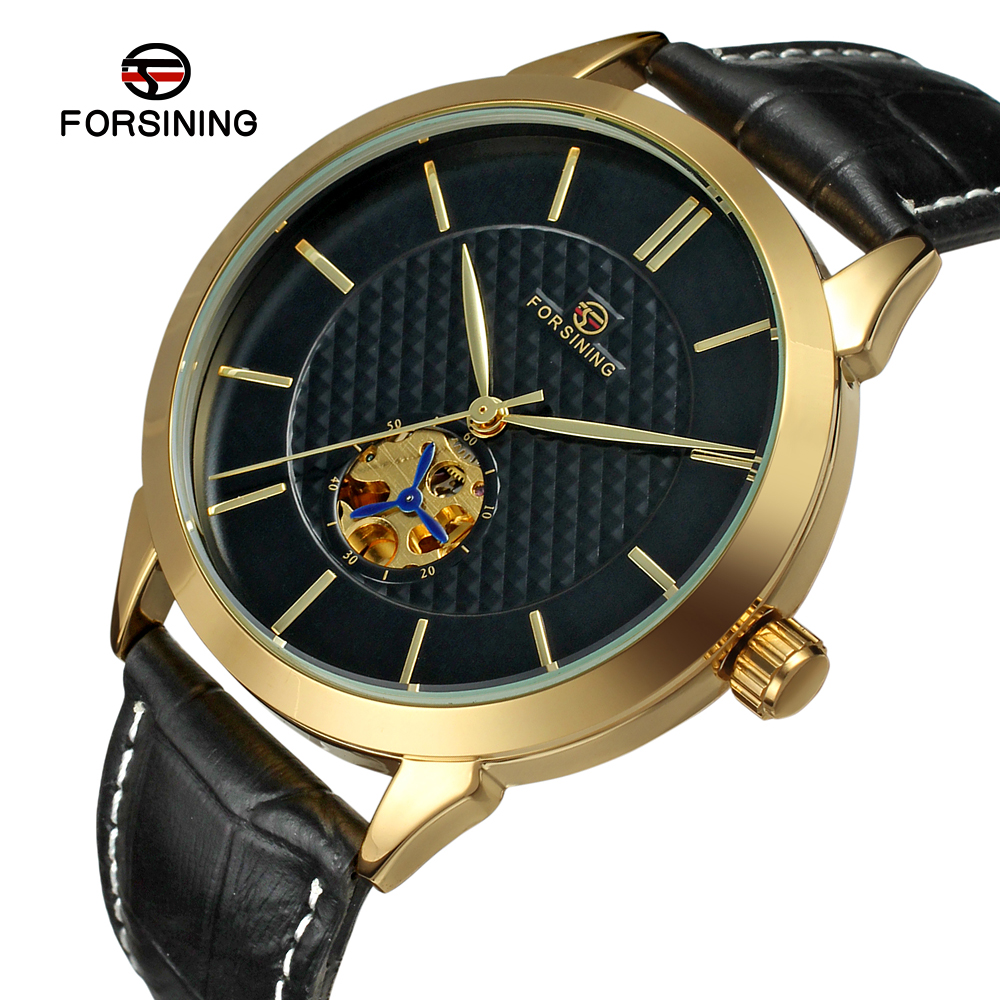 Fashion FORSINING Unisex Luxury Brand Leather Strap Men Women Watch Automatic Mechanical Wristwatches Gift Box Relogio Releges