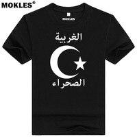 الصحراء الغربية تي شيرت diy الشحن مخصص اسم عدد العش t-shirt أمة العلم es الإسلام العربية العربية البلاد الجامعة الملابس