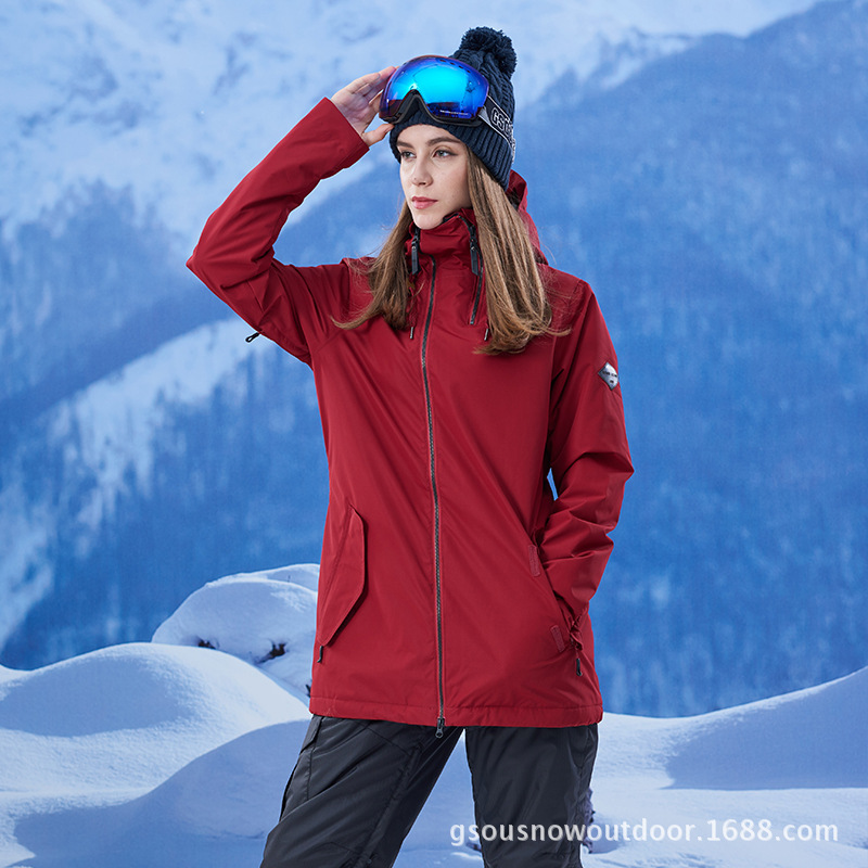 bafc906796 Aliexpress.com   Buy GSOU Snow Ski Suit Women s Pure Color Single Double  Board Outdoor Waterproof Windproof Warm Ski Jacket Hiking Travel Clothing  from ...