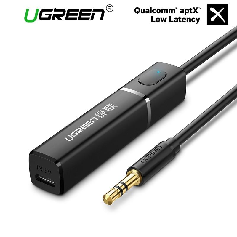 Ugreen Trasmettitore Bluetooth 4.2 APTX per TV 3.5 MM Jack Audio Adapter Wireless Bluetooth Trasmettitore Audio per Cuffie/TV/PC