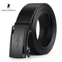 Williampolo New Arrival Mens Belt Cow Leather Belts Brand Fashion Automatic Buckle Black for Men PL18380-82P