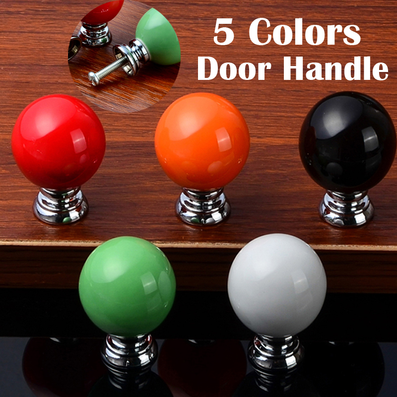 10PCS/Set Ball Shaped Drawer Pull Knobs Kitchen Cabinet Cupboard  Ceramic Door Handles Furniture Hardware Kitchen Accessories furniture drawer handles wardrobe door handle and knobs cabinet kitchen hardware pull gold silver long hole spacing c c 96 224mm