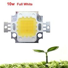 Lot 1 2 5 10 20pcs 10W Watt White Full Spectrum 45mil 380~780nm 900LM 9-12V 900mA-1050mA SMD LED Diodes Light For Plant Grow