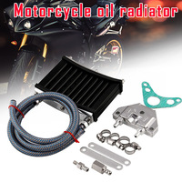 Motorcycle Engine Oil Cooler Aluminum Cooling Radiator Kit for 125CC 140CC 150CC NR shipping
