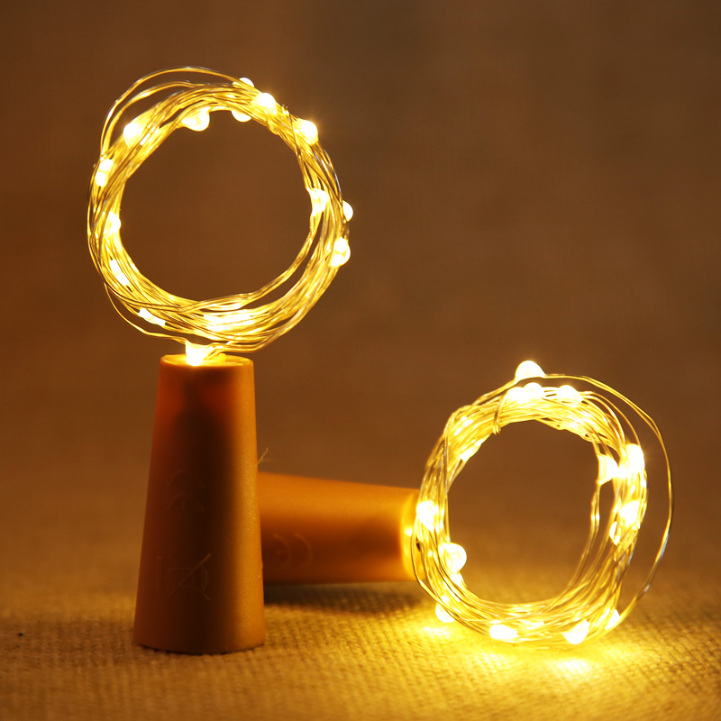 2M 20led 3*AG13 Battery Operated LED String Lights for Xmas Garland Party Wedding Home Decoration Christmas Flasher Fairy Lights