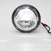 """For Harley 5 3/4"""" Motorcycle H4 Lights 5.75 inch Headlamp For Harley Davidson Headlight Headlamp Moto Projector DRL Chrome