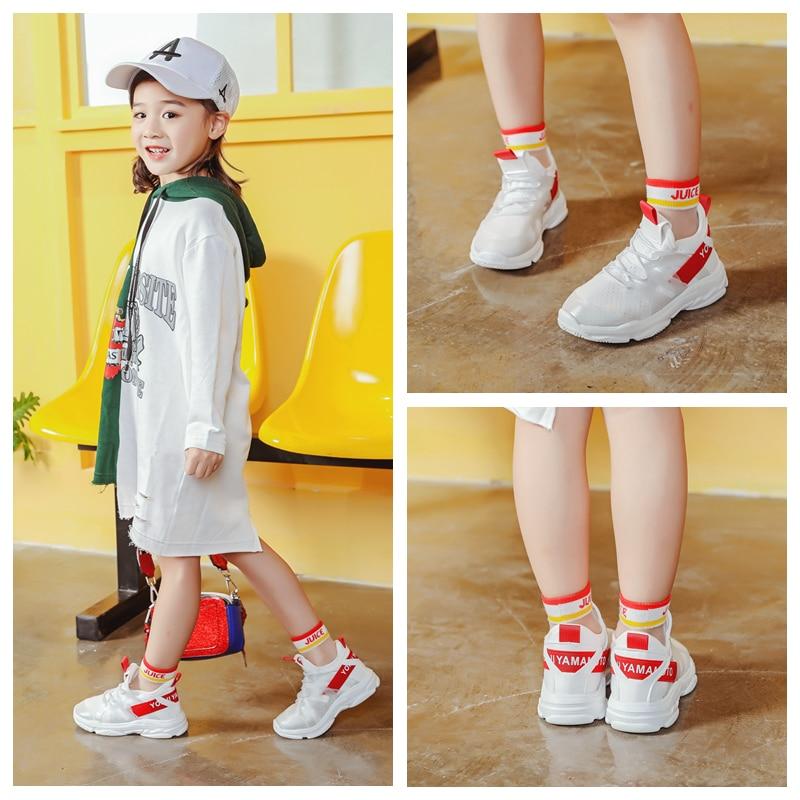 ULKNN Kids Shoes For Girls Soft Running Sneakers Boys Mesh Breathable Sport Shoes Children 2018 Spring School Tennis Sneakers 27