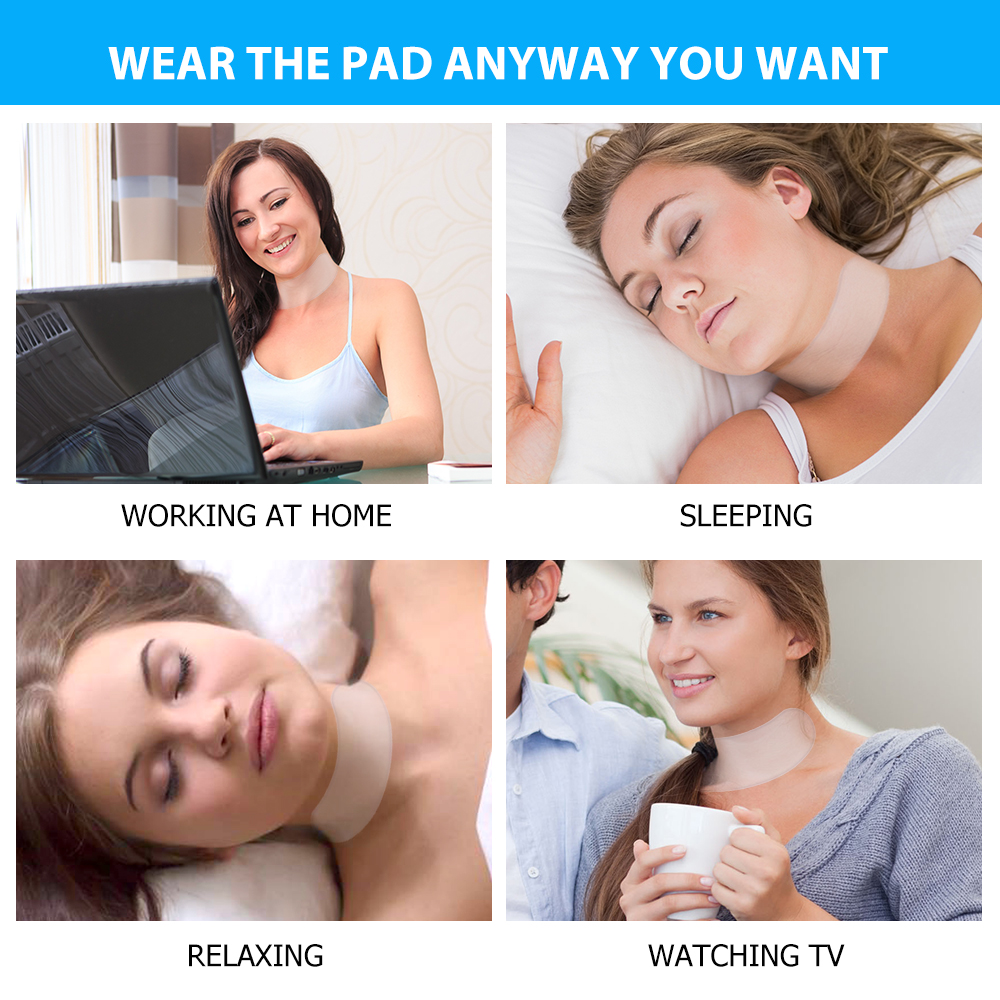Anti Wrinkle Neck Pad Silicone Neck Chest Wrinkles Remover Pads Neck Skin Lift Anti Aging Treatment Silicone Pad Drop Ship New