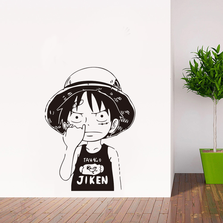Kartun One Piece Luffy Vinyl Wall Decals Home Decor Anak Kamar Art Wallpaper Removable Vinyl Wall Decals Decoration Kids Roomwall Decals Aliexpress