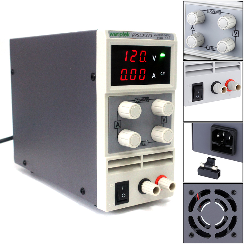 Wanptek Newest mini switching DC power supply KPS1201D 120V 1A  0.1V 0.01A adjustable DC regulated power supply+fast shipping cps 6011 60v 11a digital adjustable dc power supply laboratory power supply cps6011