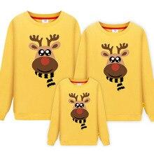 Семейная одежда для папы, мамы и меня; коллекция года; одежда для папы, мамы, дочки и сына; Рождественский и новогодний хлопковый свитер; пижамы; Семейные комплекты