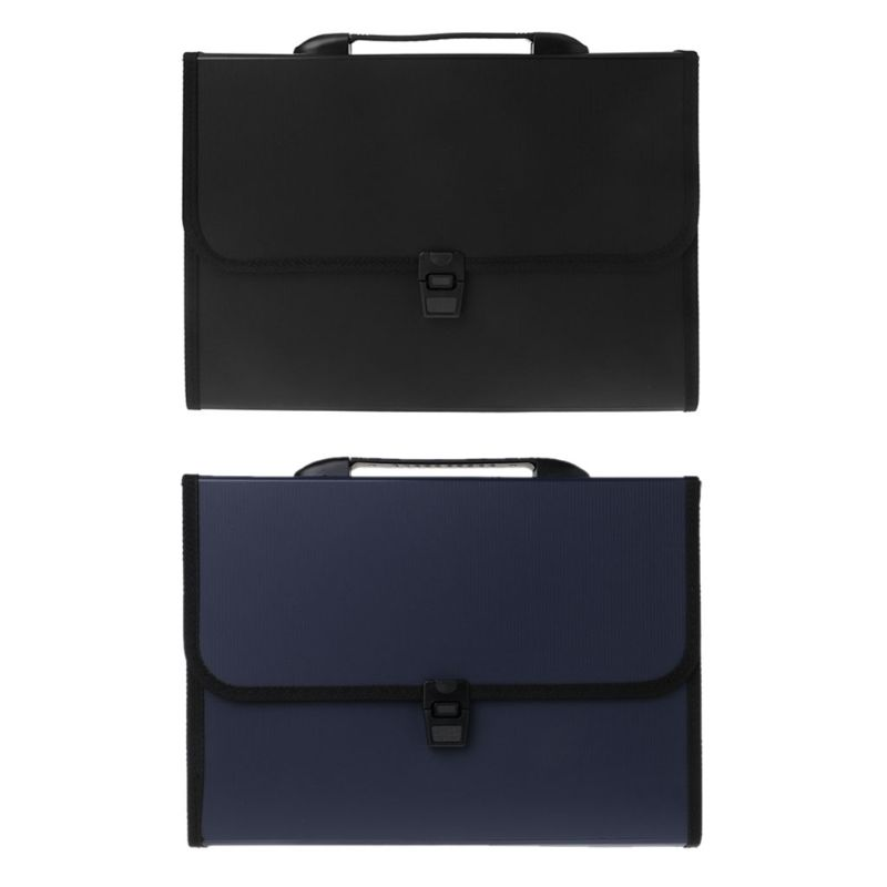 A4 Business Document Storage Expandable File Folder Office Waterproof Briefcase Document Bag
