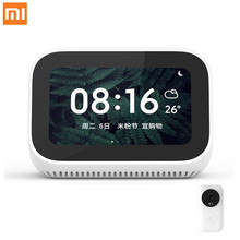 Original Xiaomi AI Touch Screen Bluetooth 5.0 Speaker Digital Display Alarm Clock WiFi Smart Connection Mi speaker