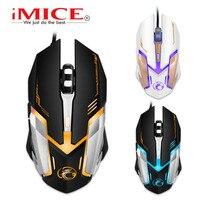 USB Wired Gaming Mouse Für Spielen Spiel, 6D 4-Gears DPI Einstellbar Mäuse Mit LED Atmen Farben Licht Für Elektronische Sport